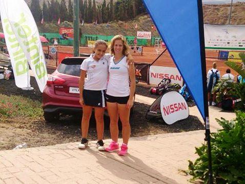 Sara Juliá y Alba Pedrero en el Tennis Europe de Gran Canaria