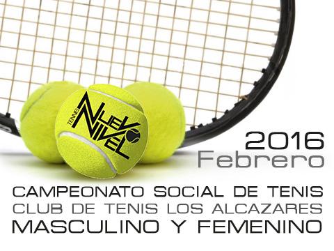 Campeonato social Los alcazares Nuevo Nivel Tenis febrero 2016 Noticia