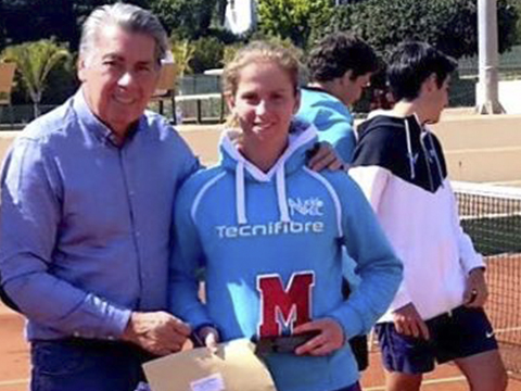 Alba Pedrero nuevo nivel tenis los alcazares