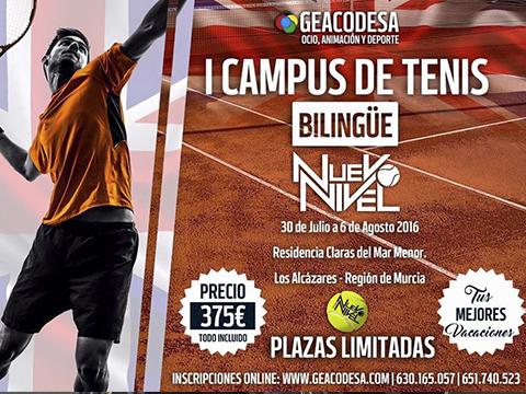 campus nuevo nivel tenis verano los alcazares