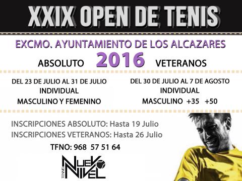 XXIX open tenis los alcazares nuevo nivel tenis