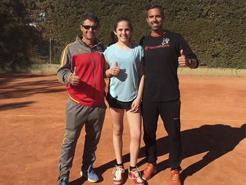 Ester Martinez recuperada nuevo nivel tenis