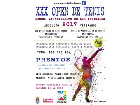 30 open de tenis nuevo nivel tenis los alcazares