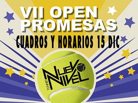 horario campeonato promesas tenis nuevo nivel los alcazares murcia 15 DIC
