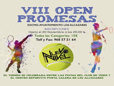 open promesas VIII nuevo nivel tenis